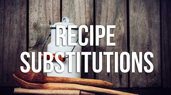 Popular Recipe Substitutions